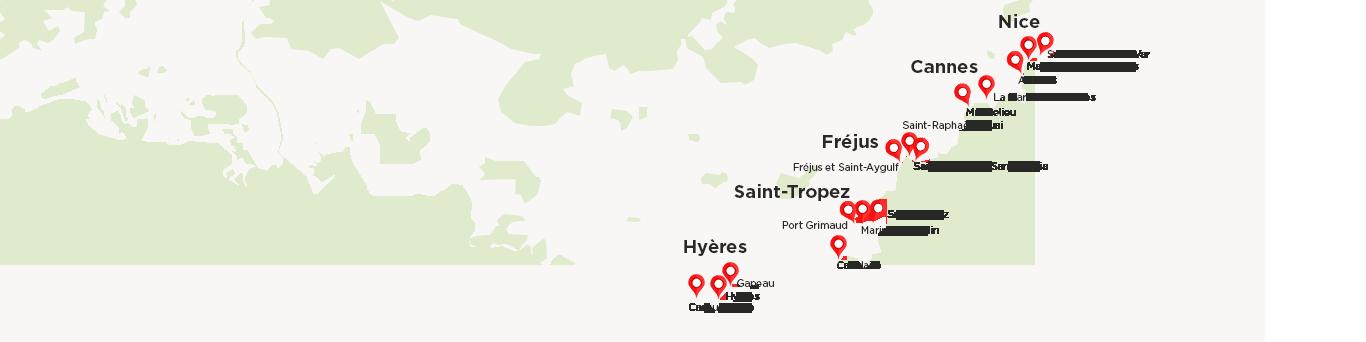 Carte des ports Casino onBoard